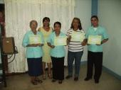 Certificando en Ecuador - Portoviejo a Alfredo, Lolaida, María y Cristina (de derecha a izquierda)
